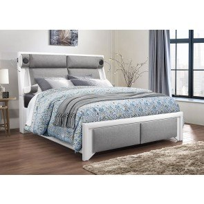 Emily White Platform Bedroom Set By Global Furniture