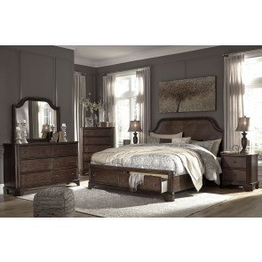 Burkesville Bedroom Set W Upholstered Bed By Signature