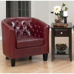 Striped Accent Chair Maroon Beige Coaster Furniture