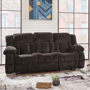 Damacio Dark Brown Reclining Sofa By Signature Design By