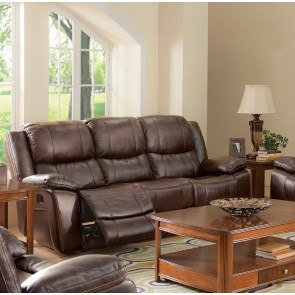 Presley Espresso Reclining Sofa W Massage By Signature