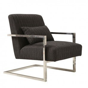 Black And White Stripe Accent Chair By Coaster Furniture