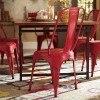 Amara Metal Side Chair (Red) (Set of 4)