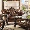 Versailles Loveseat (Light Brown PU) by Acme Furniture