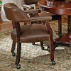 Tournament Arm Chair w/ Casters (Brown) by Steve Silver Furniture
