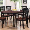 Addison Oval Dining Table (Black/ Cherry) by Coaster Furniture