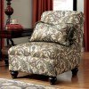 Davora Caramel Armless Chair