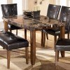 Lacey Boat Shaped Dining Table w/ Inlay