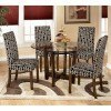 Charrell Round Dinette with Onyx Chairs