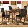 Charrell Rectangular Dining Room Set with Black Chairs
