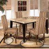Naomi Dining Room Set with Sangria Chairs
