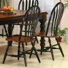 Black and Cherry Side Chair (Set of 2)