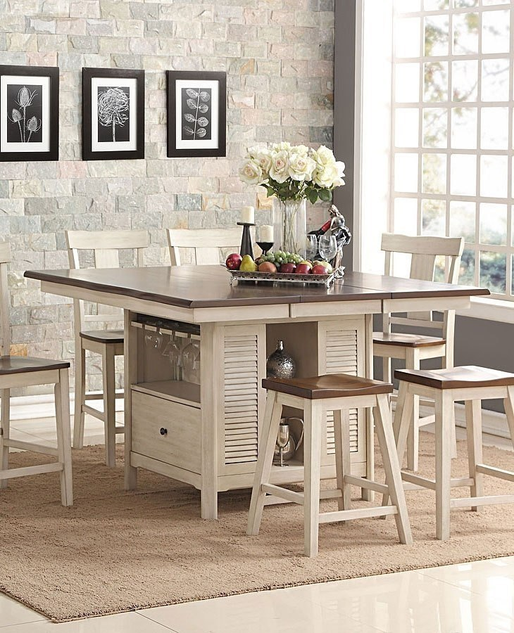 Heather Counter Height Island Table New