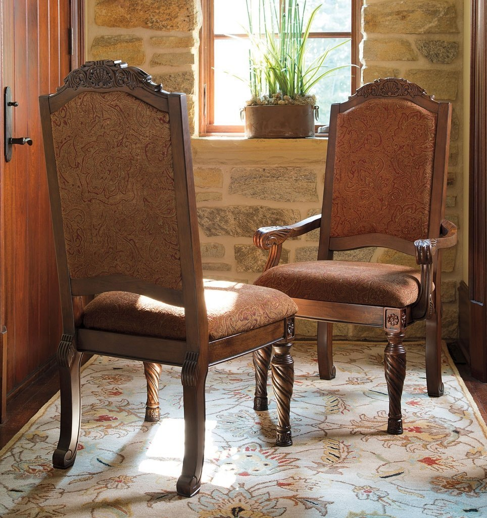North Shore Upholstered Arm Chair Set Of 2 Signature