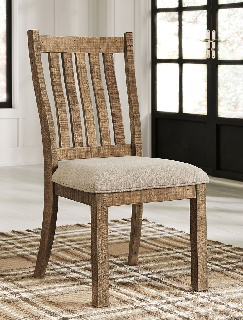 Grindleburg Dining Room Set W Light Brown Chairs By