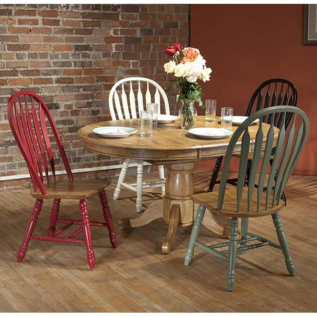 Missouri Round Dining Room Set W/ Chair Color Choices ECI