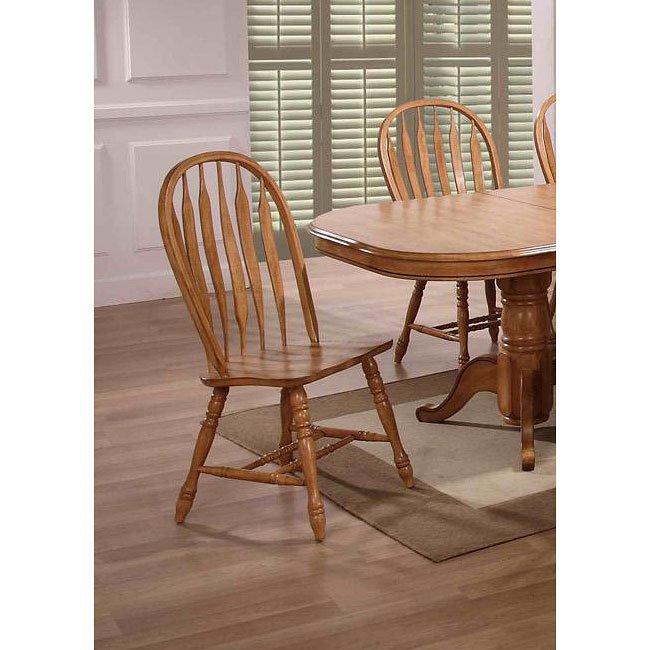 Oak Dining Room Furniture Sets: Missouri Round Dining Room Set (Rustic Oak) By ECI