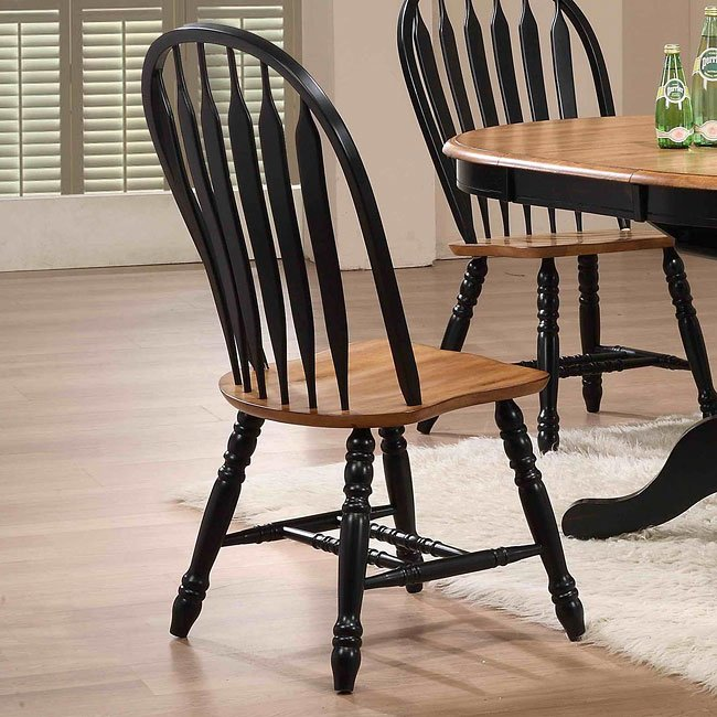 Missouri Round Dining Table Black Rustic Oak Eci: Missouri Side Chair (Set Of 2) (Black/ Rustic Oak) By ECI