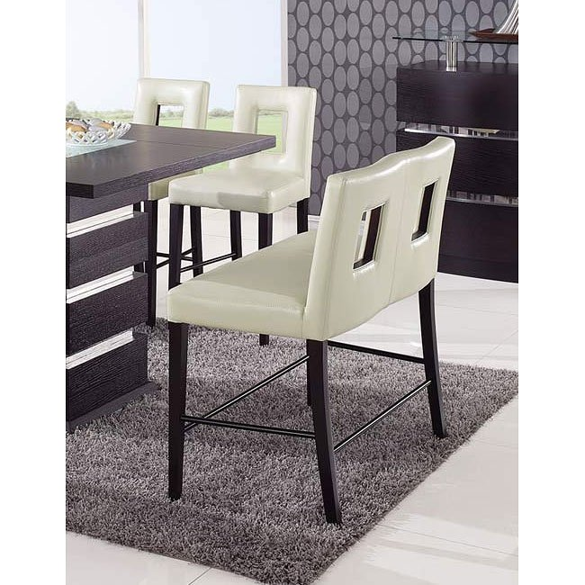 Dining Room Chair Height: G072 Counter Height Dining Room Set W/ Beige Chairs By