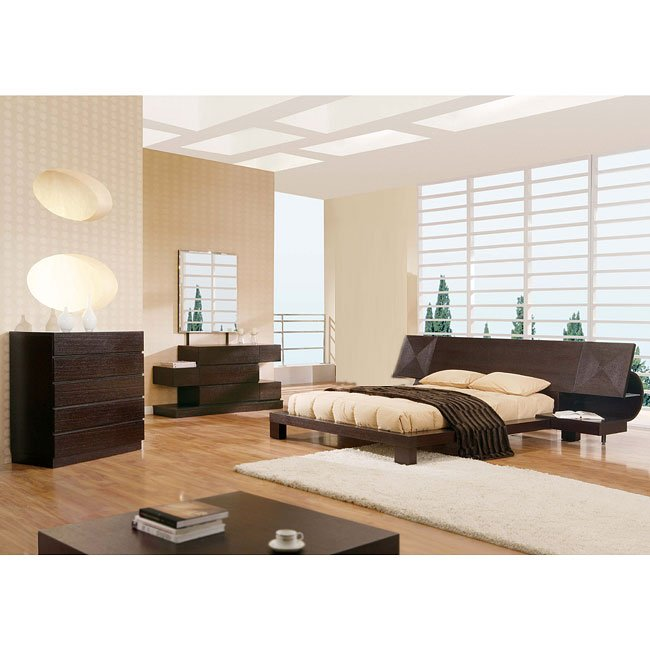 Soho Wenge Platform Bedroom Set