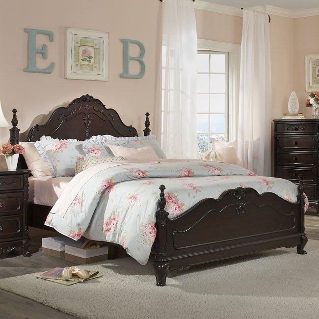 Cinderella Bedroom Set (Cherry) By Homelegance