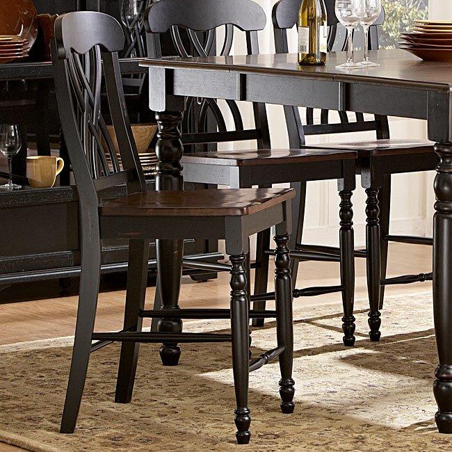 Ohana Counter Height Chair (Black) (Set Of 2)