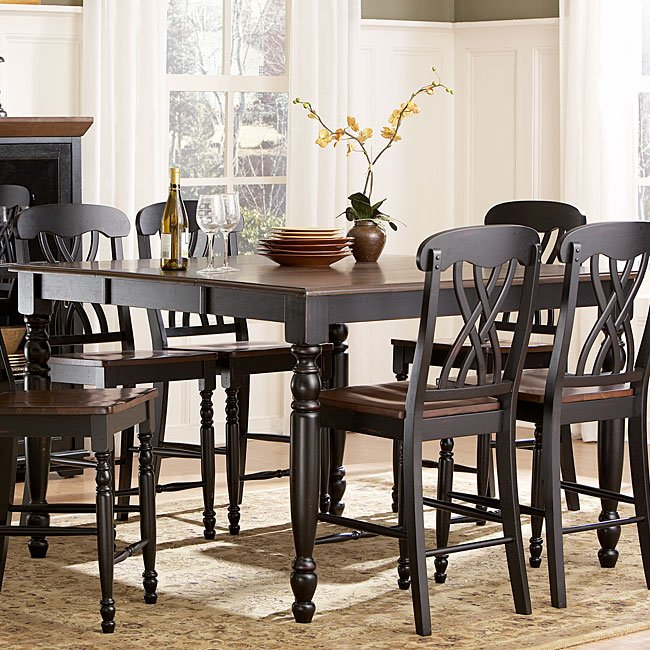 Ohana Counter Height Dining Room Set (Black) By