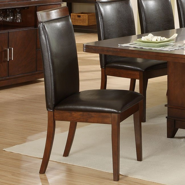 Elmhurst Pedestal Dining Room Set With Brown Wood Rail