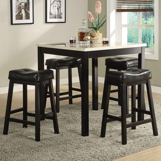 Standard Furniture Brooklyn 5 Piece Counter Height Dining: Archstone 5-Piece Counter Height Dinette By Homelegance