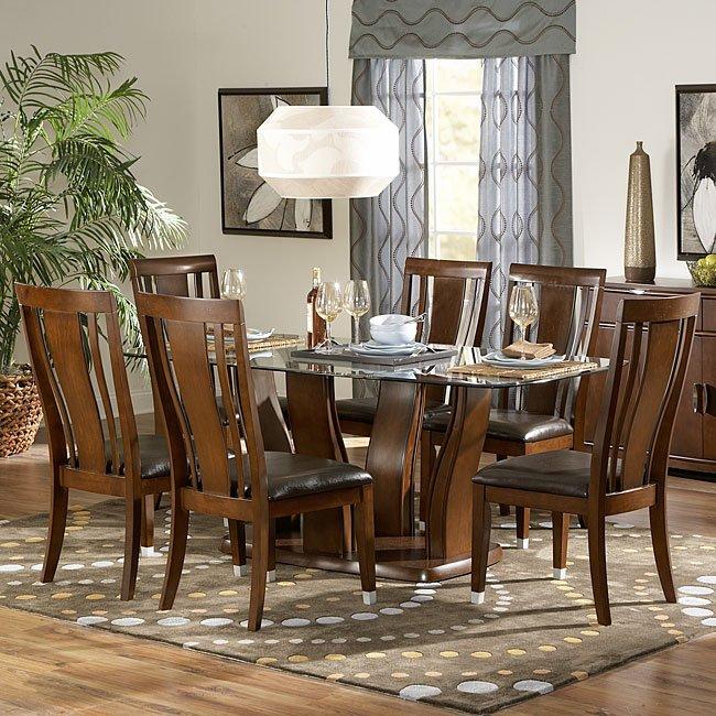 Glass Top Dining Room Set: Emmett Glass Top Dining Room Set By Homelegance
