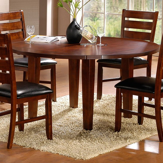 ameillia round square dining table homelegance
