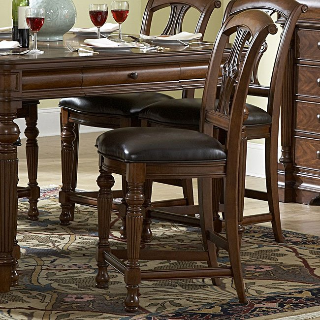 Dining Room Chair Height: English Manor Counter Height Dining Room Set By