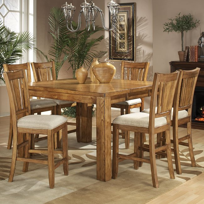 Fusion Counter Height Dining Room Set (Light Oak) By