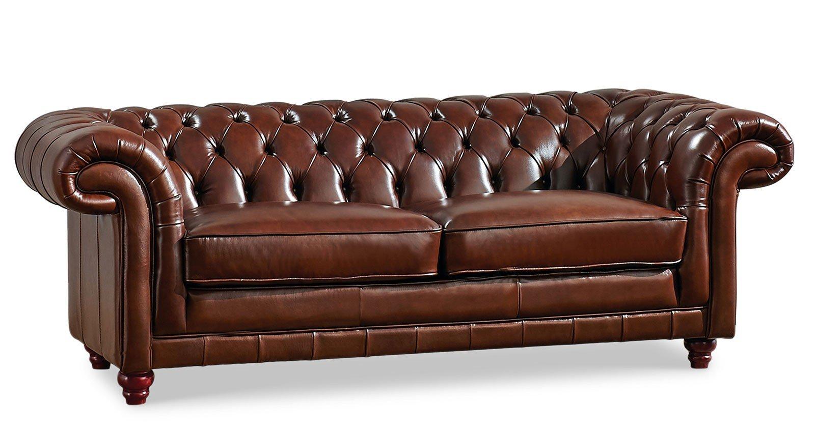 288 Tufted Brown Sofa Sofas Living Room Furniture