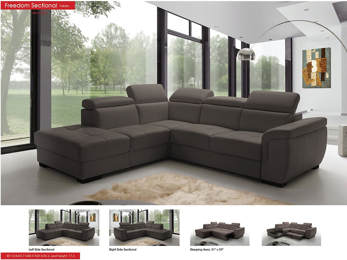 Freedom Left Side Sectional W Sleeper Sectionals Living Room Furniture Living Room