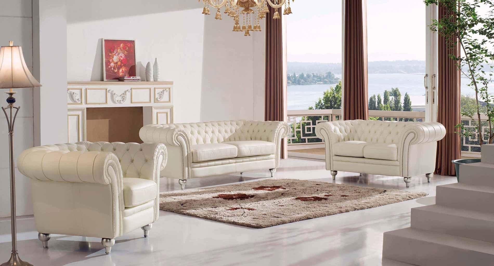 Fantastic 287 Tufted Cream Living Room Set Download Free Architecture Designs Scobabritishbridgeorg