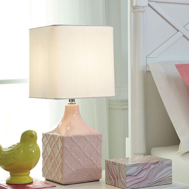 Simmone Ceramic Table Lamp Pink