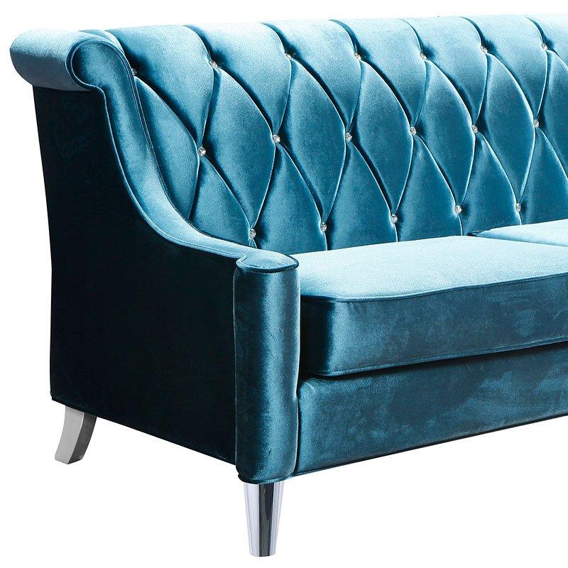 Barrister Sofa Blue Velvet Armen Living Furniturepick