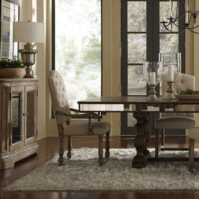 pulaski furniture dining room set | Alekto Dining Room Set w/ Zoie Chairs by Pulaski Furniture ...