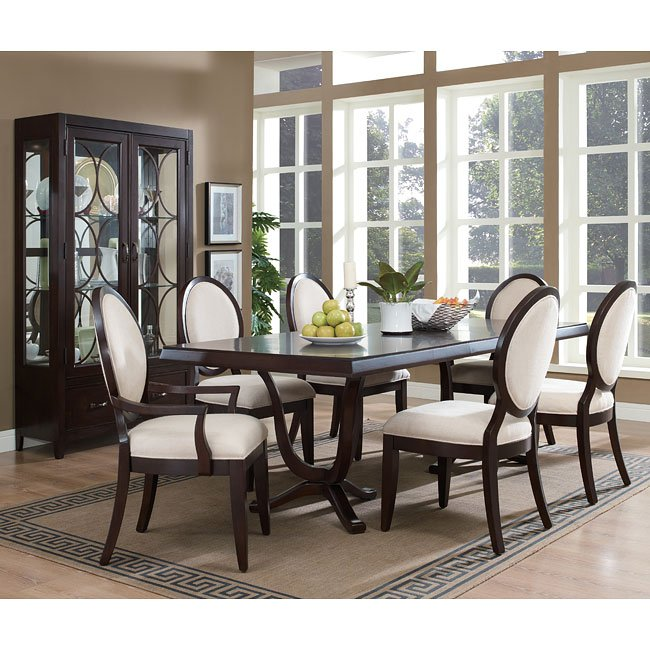 Plaza Square Dining Room Set W/ Oval Back Chairs By