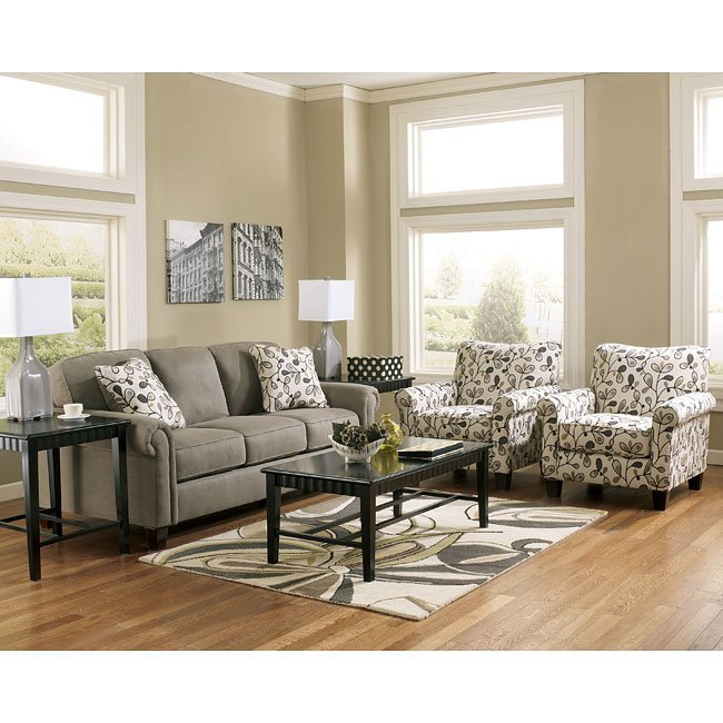 Gusti Dusk Sofa Set W Accent Chairs