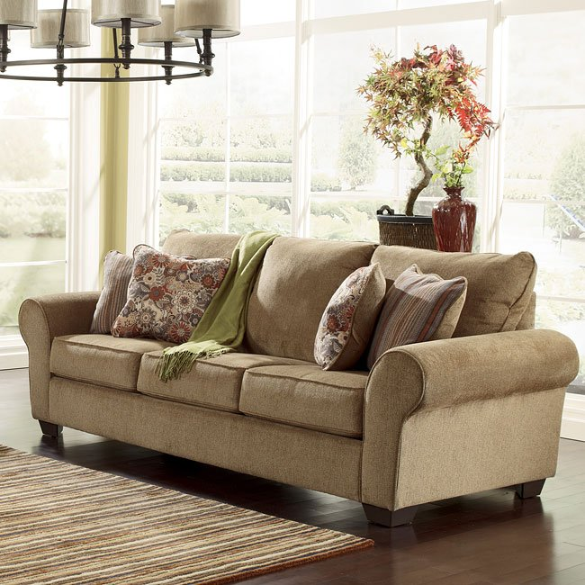 Galand Umber Queen Sofa Sleeper Signature Design By Ashley Furniture