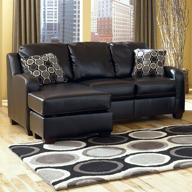 Sofa Sleeper Chaise: Black Sofa Chaise Queen Sleeper By
