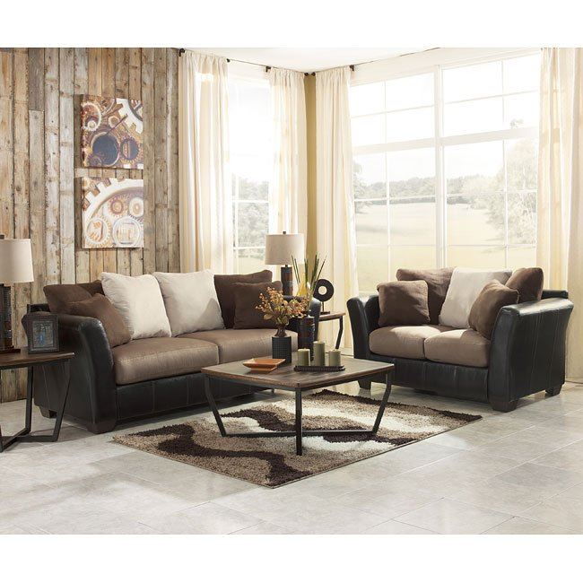 Masoli - Mocha Living Room Set Signature Design by Ashley ...