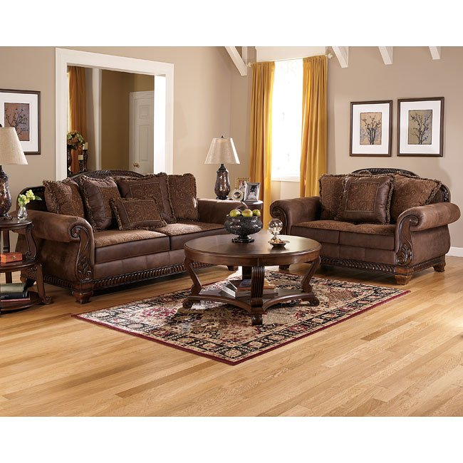 Ashley Furniture Living Room Set: Truffle Living Room Set Signature Design By