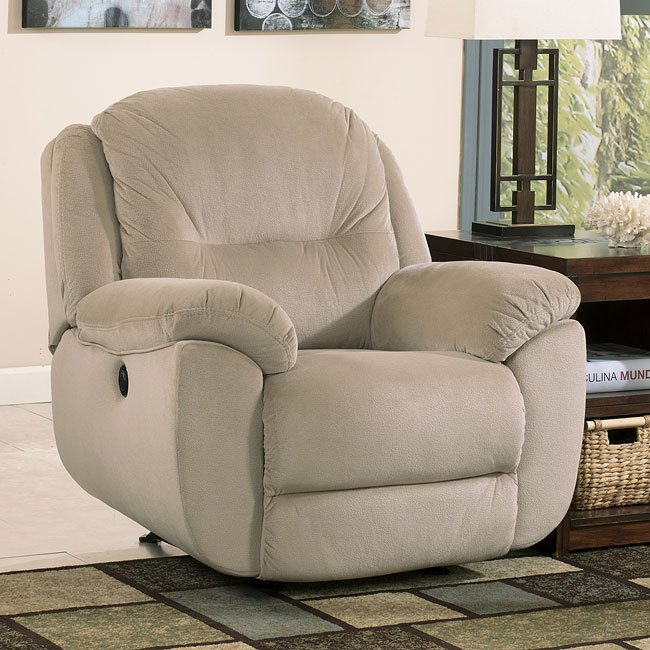 Maytime Putty Reclining Living Room Set By Signature