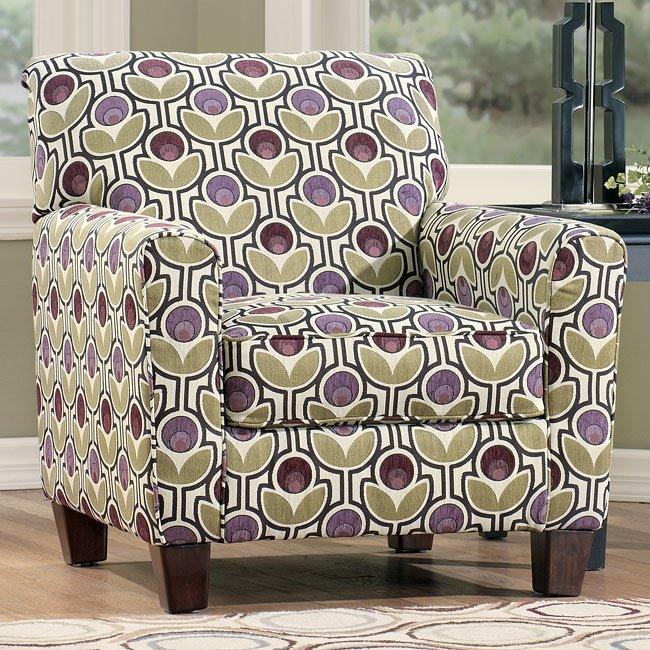 Danielle Eggplant Accent Chair Signature Design By