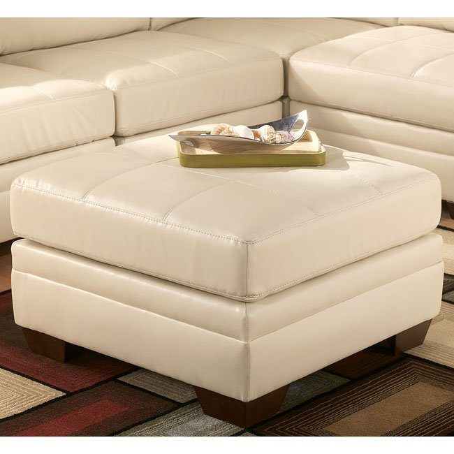 durablend ivory modular living room set by signature 18902 | sig 1890208 ottoman 1