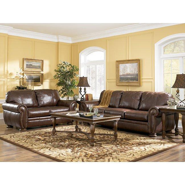 palmer walnut living room set by millennium furniturepick. Black Bedroom Furniture Sets. Home Design Ideas
