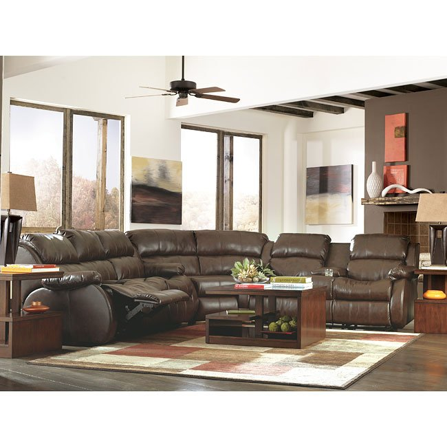 Durablend Cafe Reclining Sectional Living Room Set Millennium Furniturepick